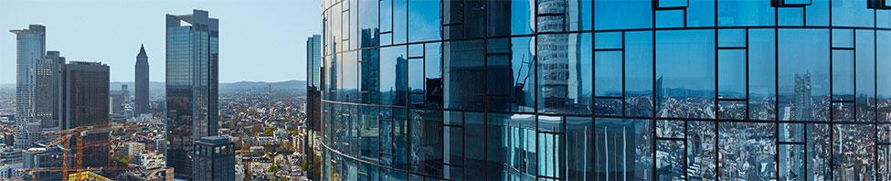 Blick auf die Skyline Hochhäuser