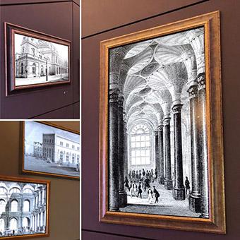 Kollage aus mehreren historischen Bildern der deutschen Börse