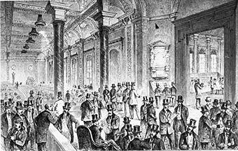 Bild der alten Boerse Berlin                     1850