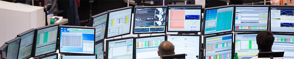 Monitoren an der Börse