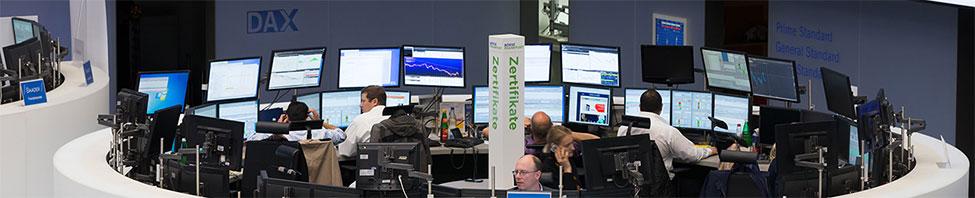 Händler Schranke an der                     Börse