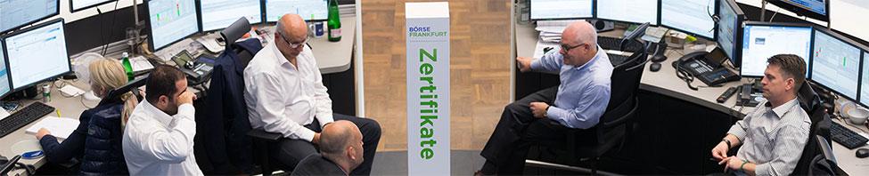 Spezialisten der               Börse Frankfurt Zertifikate AG
