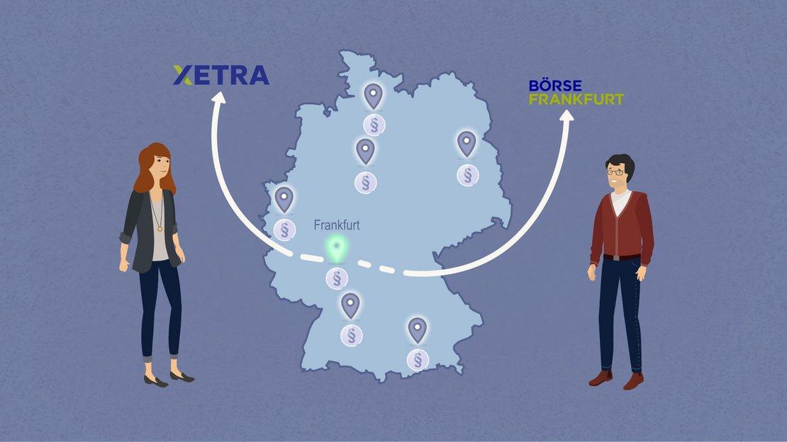 Die Handelsplätze Xetra und Börse Frankfurt